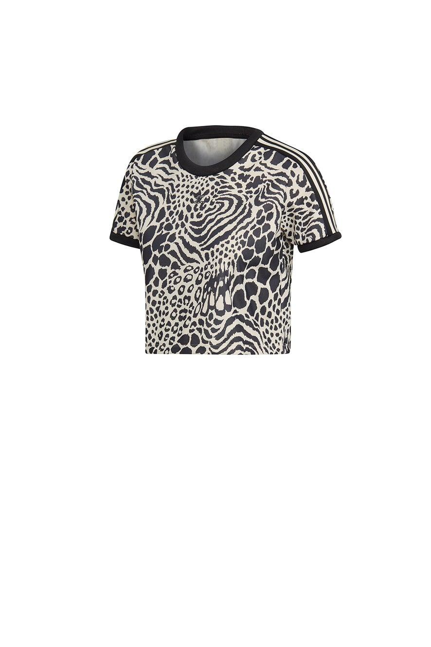 adidas 3-Stripes Tee Ecru Tint/Black