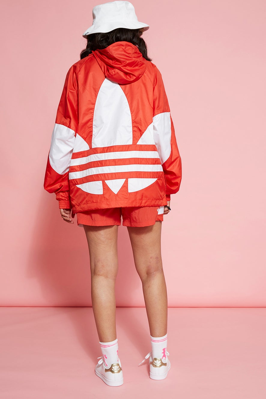 adidas Big Trefoil Windbreaker Lush Red