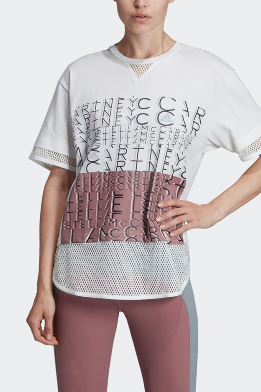 adidas by Stella McCartney Athletics Logo Tee White