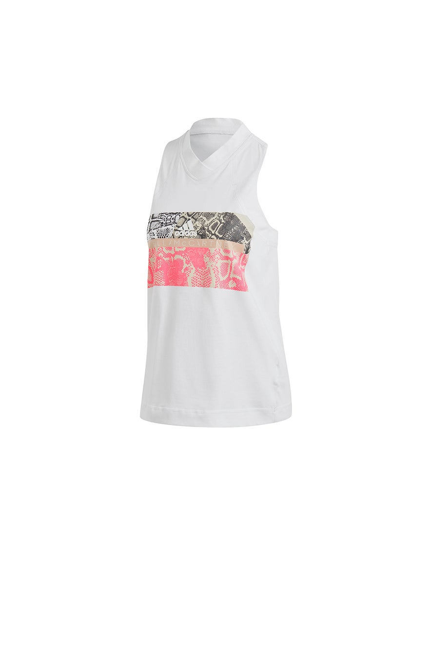 adidas by Stella McCartney Graphic Tank White