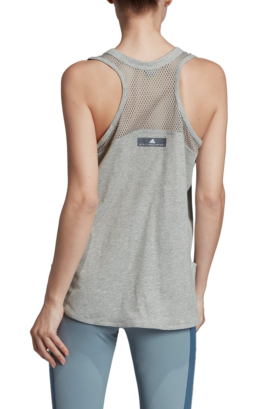 adidas by Stella McCartney Logo Tank Medium Grey Heather