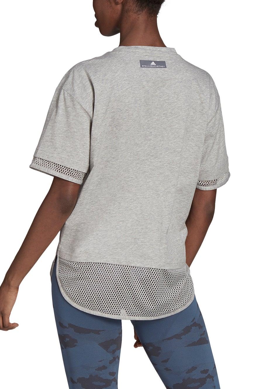 adidas by Stella McCartney Logo Tee Medium Grey Heather