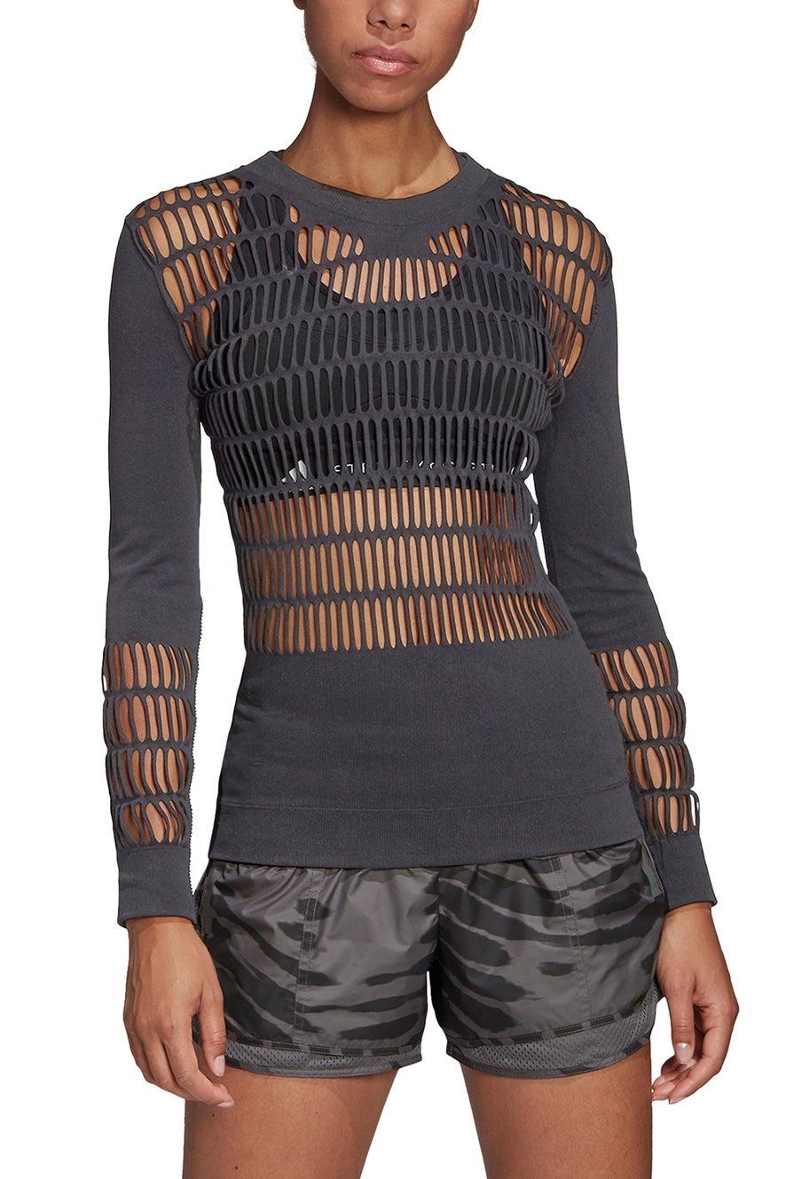 adidas by Stella McCartney Warp Knit Shirt Grey Five