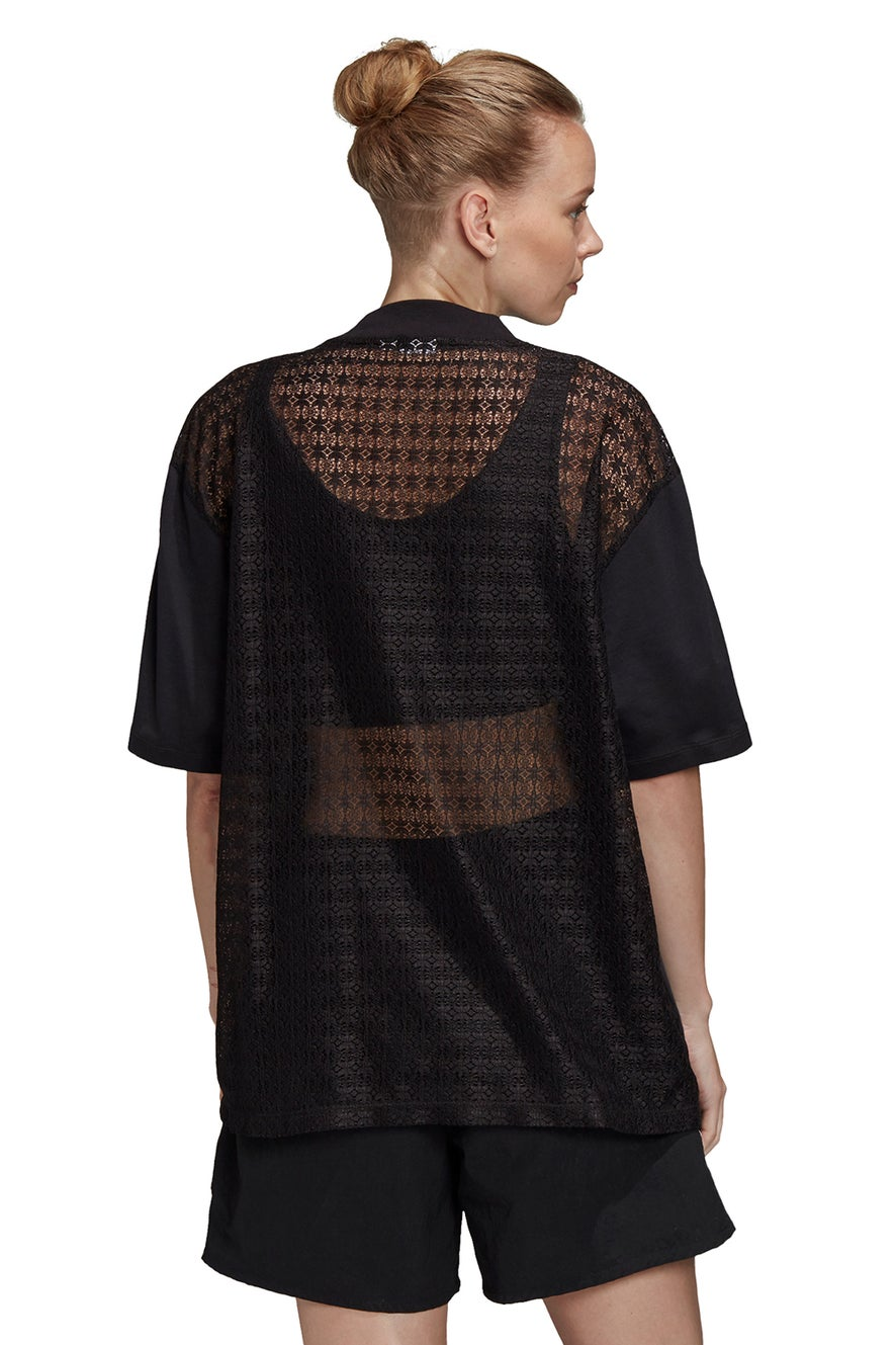 adidas Lace Back Tee Black