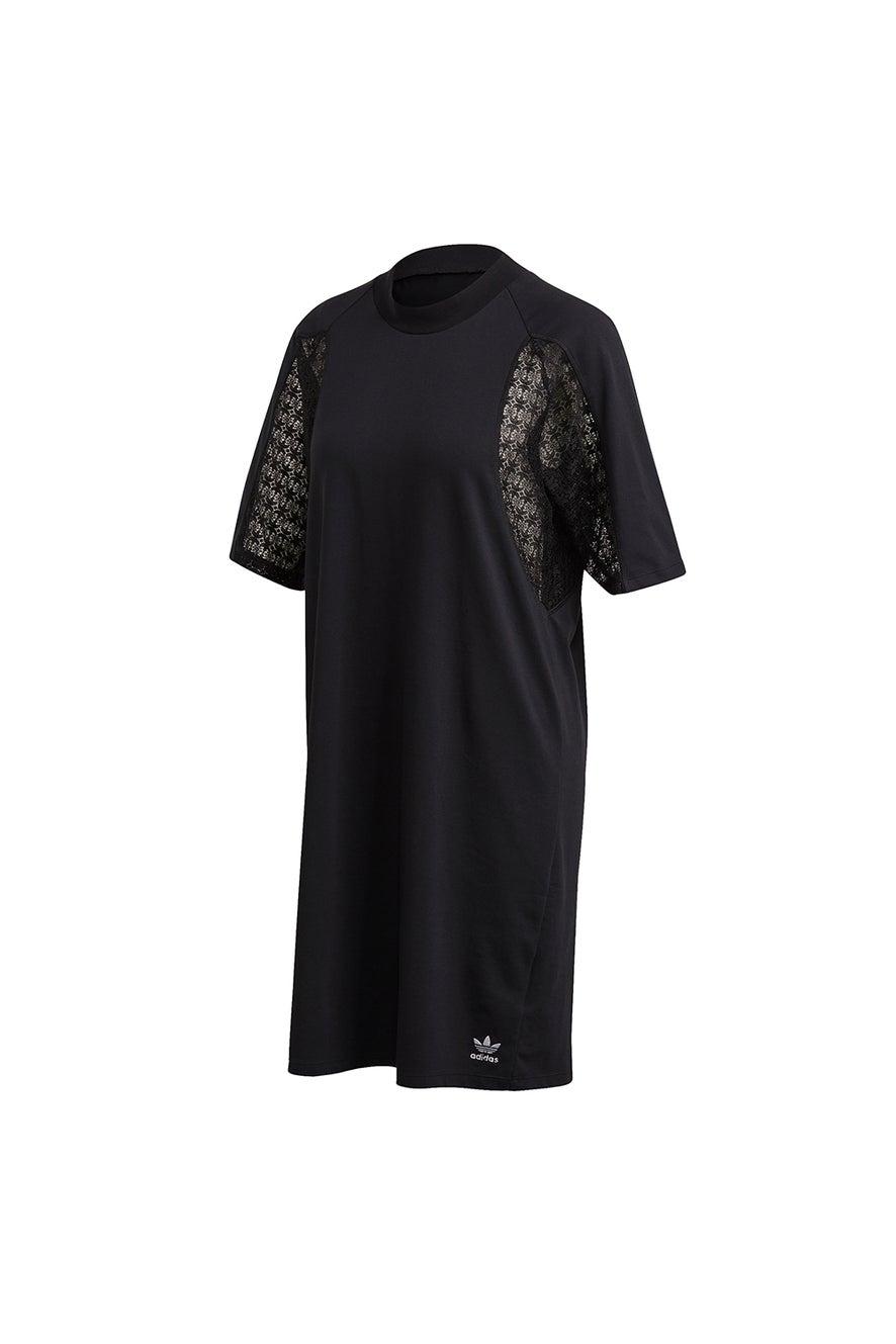 adidas Lace Tee Dress Black