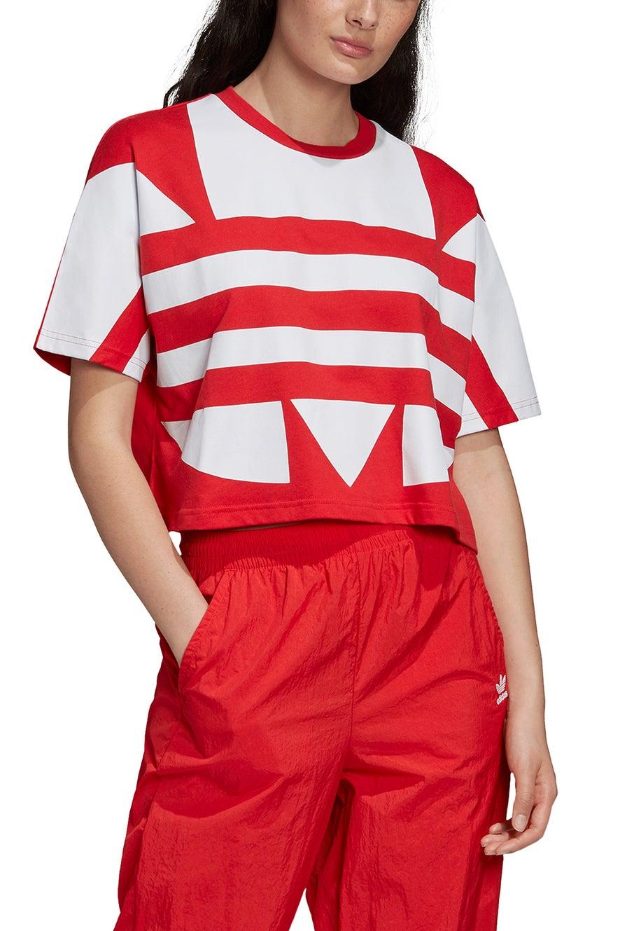 adidas Large Logo Tee Lush Red/White