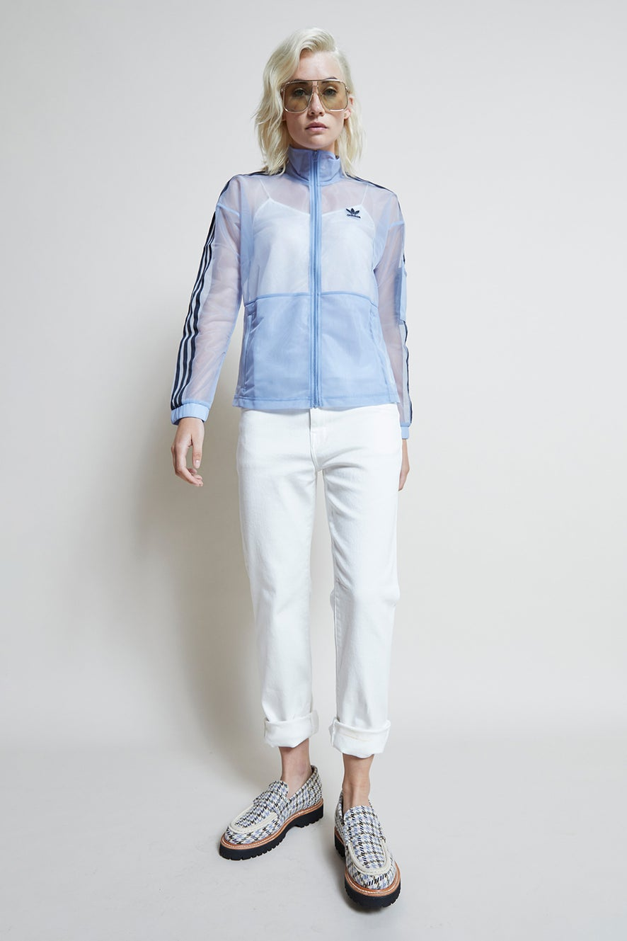 adidas Mesh Track Top Chalk Blue