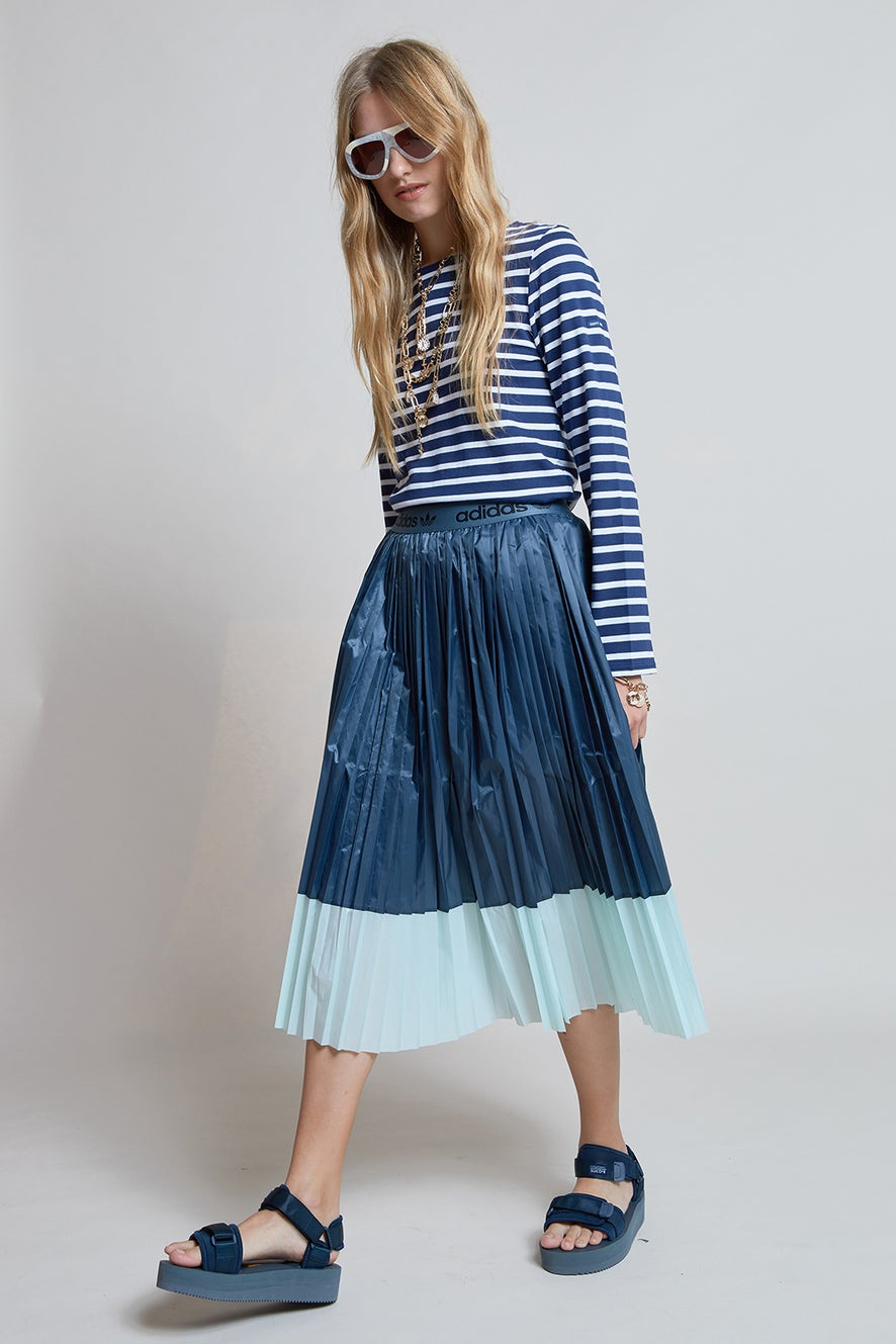 adidas Pleated Skirt Legacy Blue