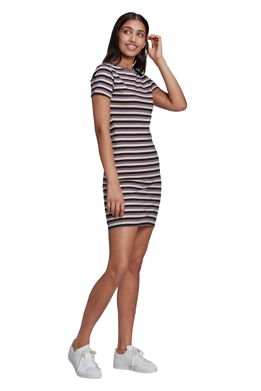 adidas Striped Dress Black/Off White