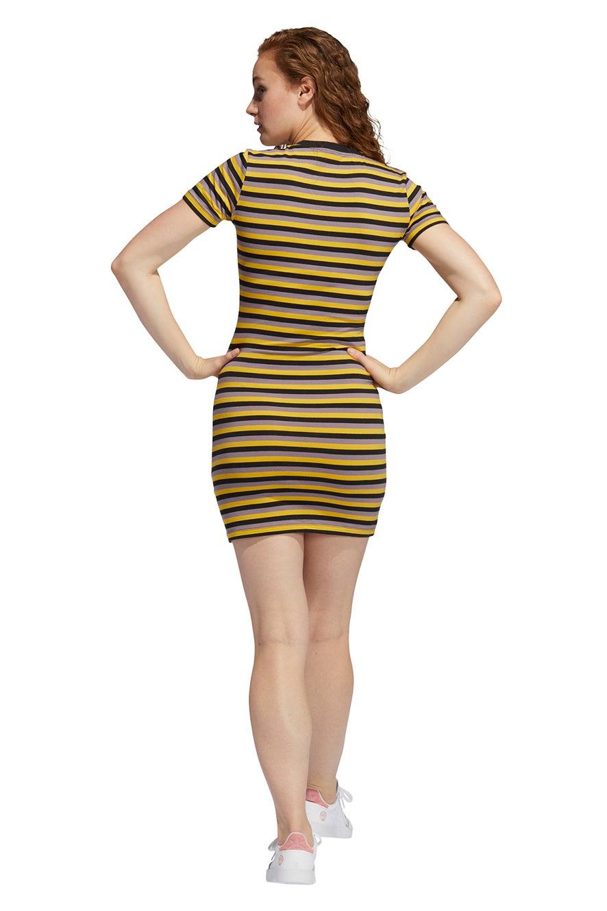 adidas Striped Dress Corn Yellow