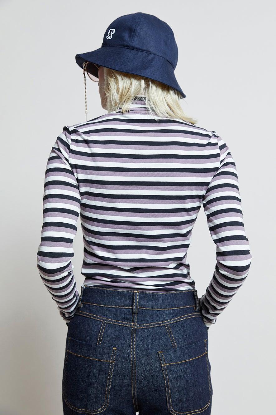 adidas Striped Long Sleeve Black/Off White