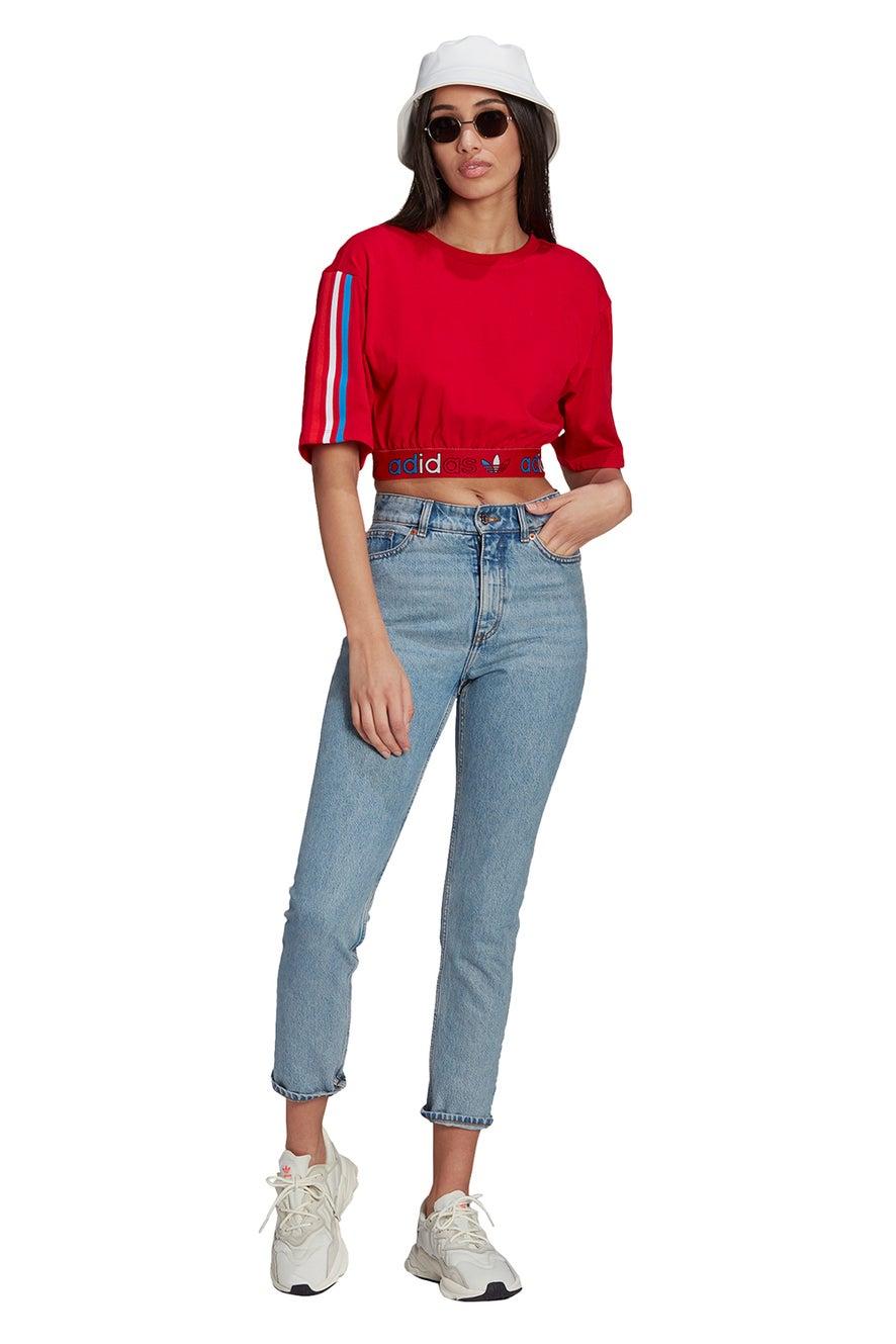 adidas Tee Prime Blue Scarlet