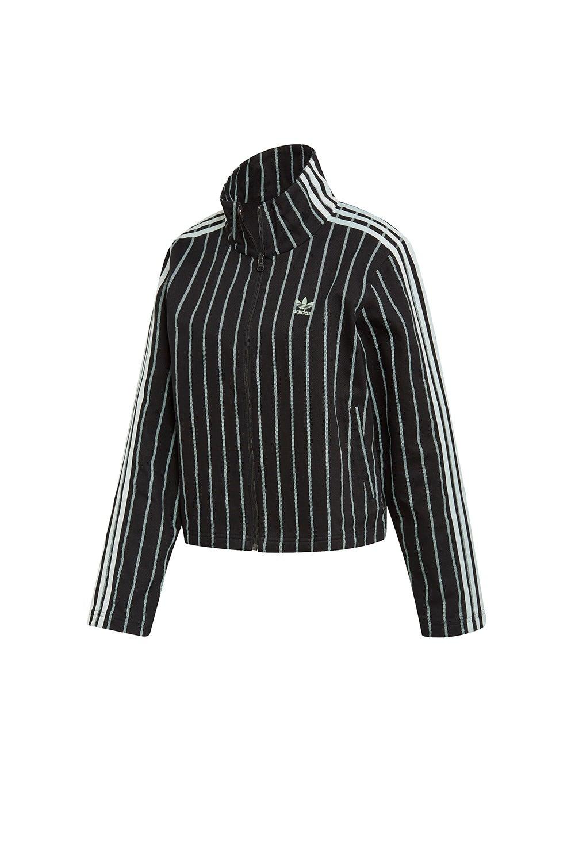 adidas Track Jacket Black/Vapour Green
