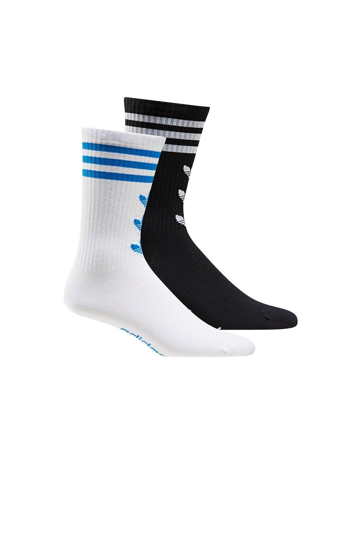adidas Trefoil Crew 2 pack Socks White/Black