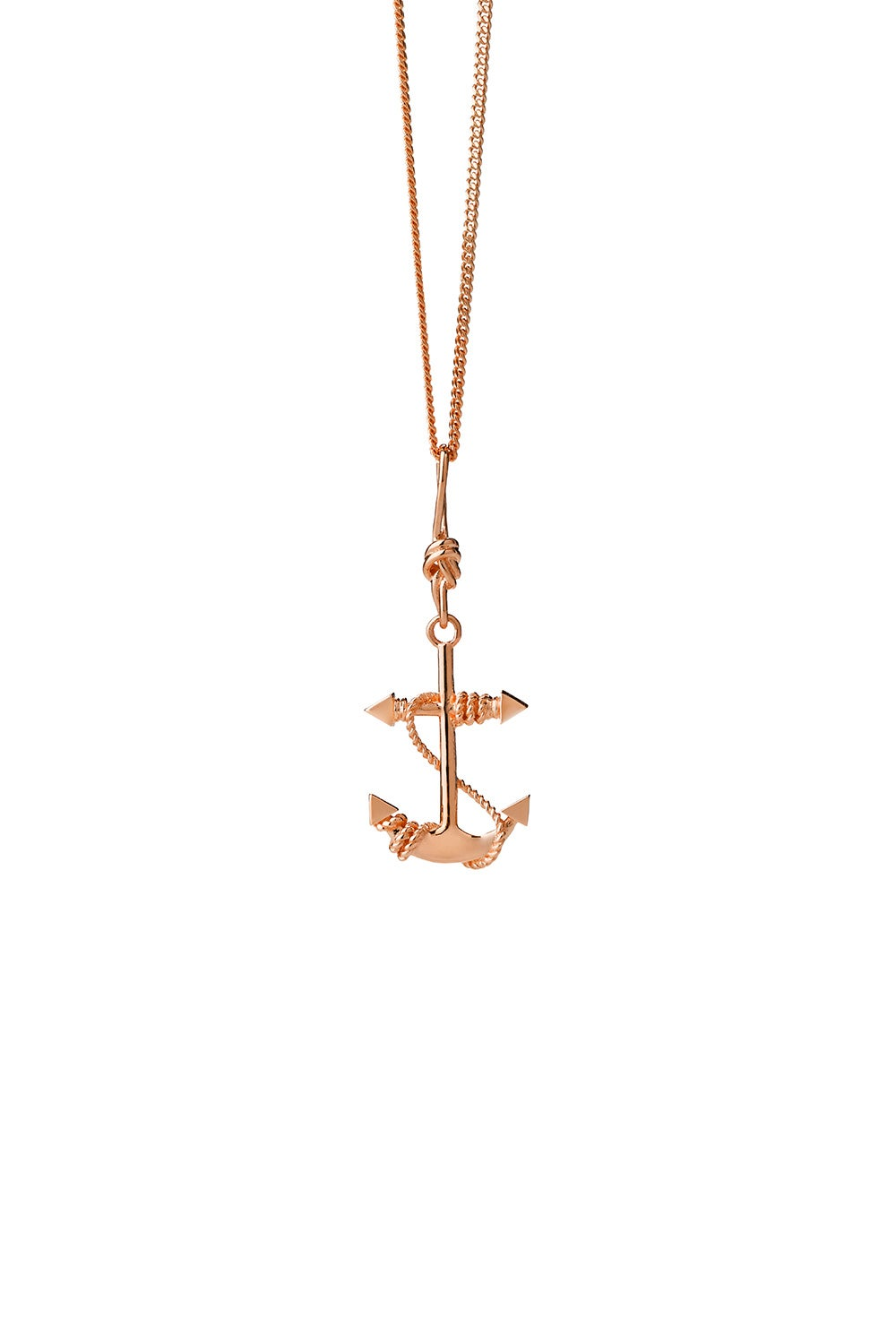 Anchor Necklace Rose Gold