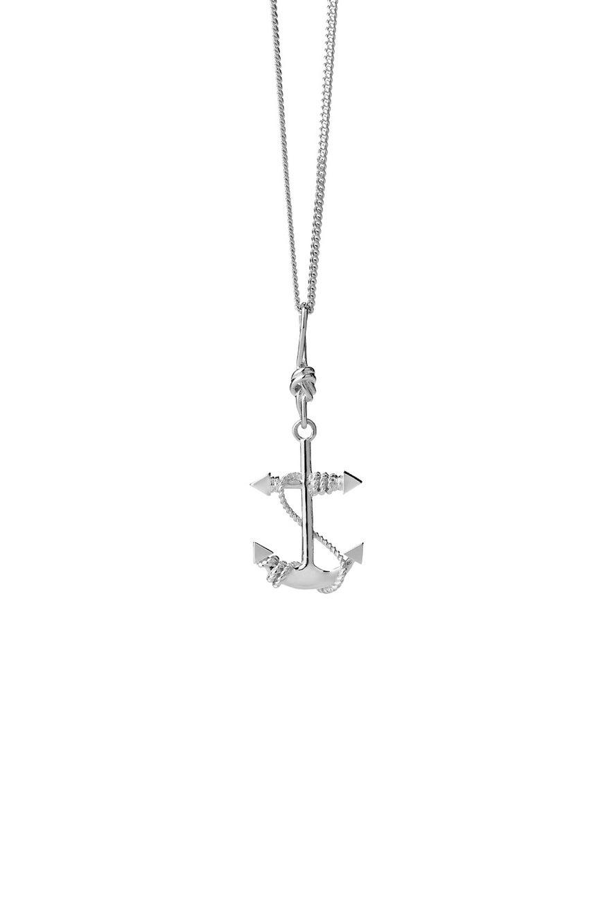 Anchor Necklace Silver