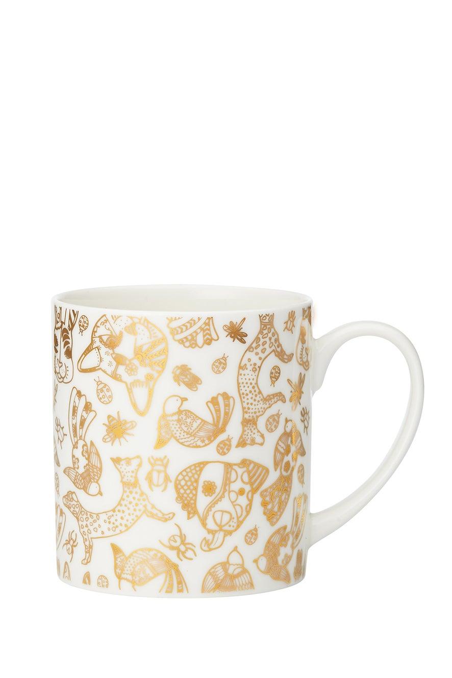 Animal Filigree Print Mug
