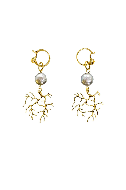 Anoushka Van Rijn Coral Hoop Earrings