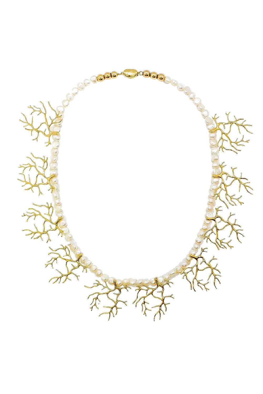 Anoushka Van Rijn Coral Pearl Necklace