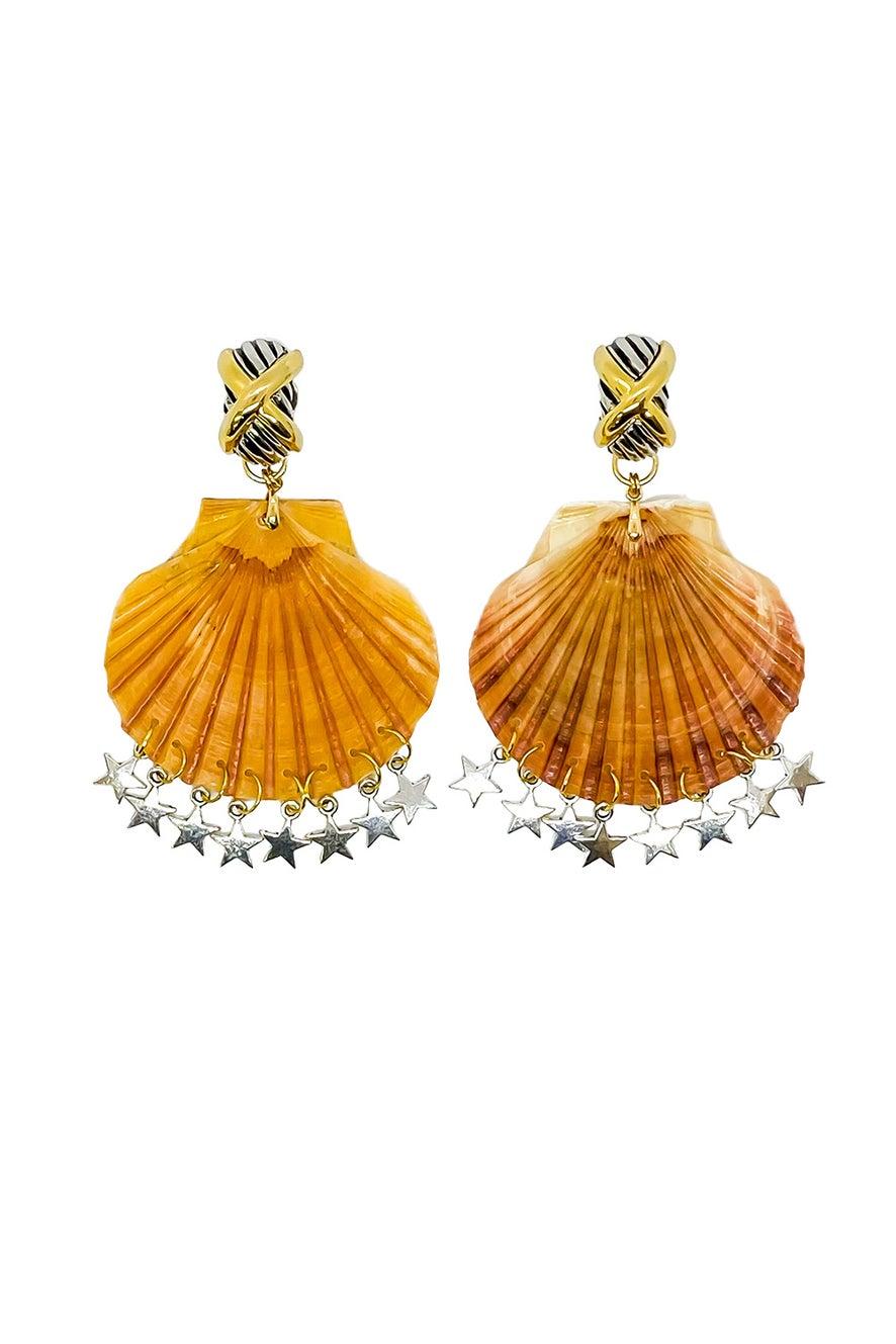 Anoushka Van Rijn Cross Star Earrings