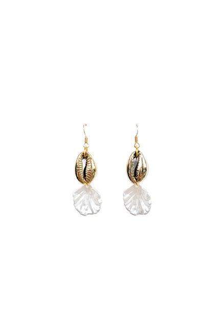 Anoushka Van Rijn Gold Cowrie Earrings