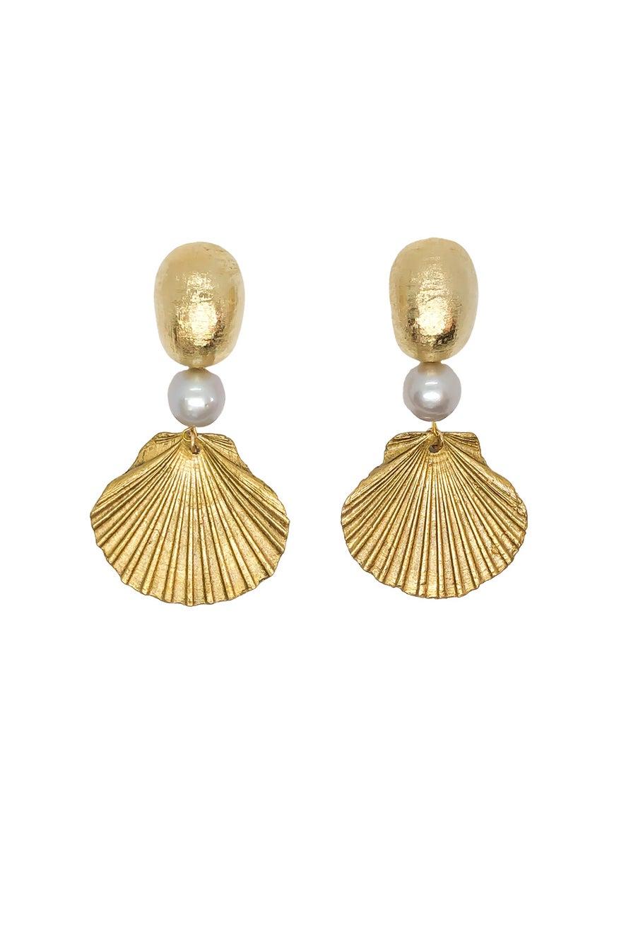 Anoushka Van Rijn Golden Ray Earrings