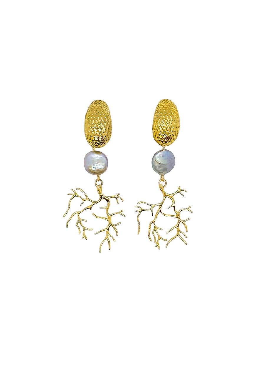 Anoushka Van Rijn Iridescent Sea Earrings