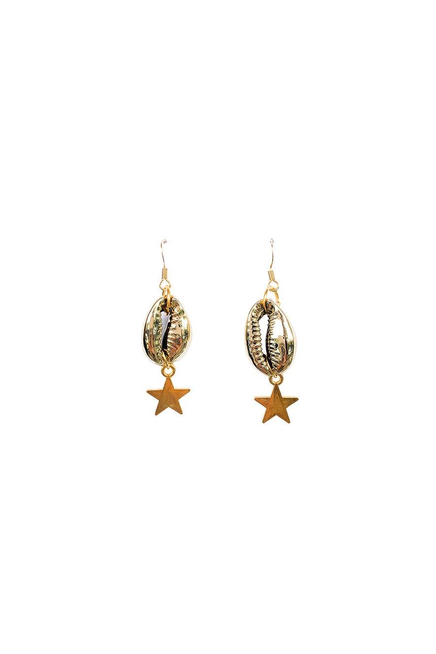 Anoushka Van Rijn Mini Star Shell Earrings