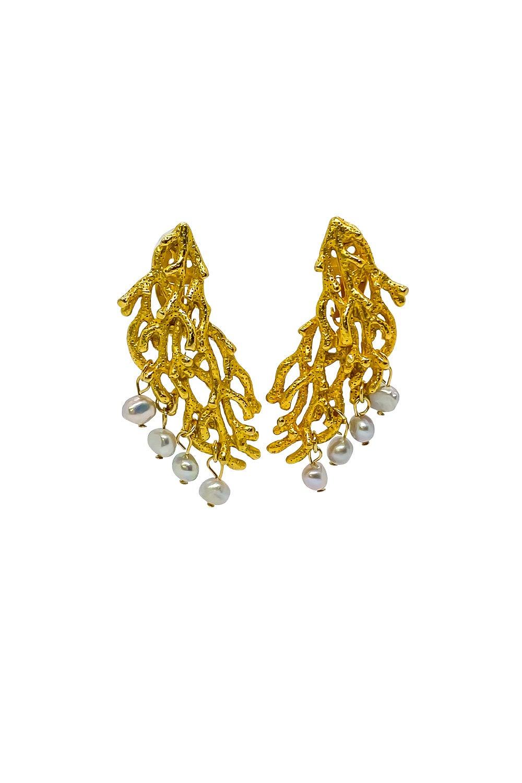 Anoushka Van Rijn Pearly Coral Earrings