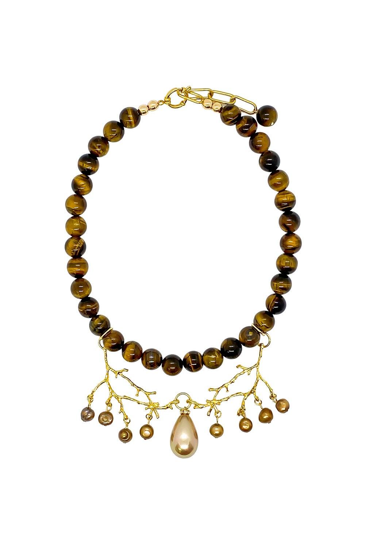 Anoushka Van Rijn Tiger's Eye Necklace