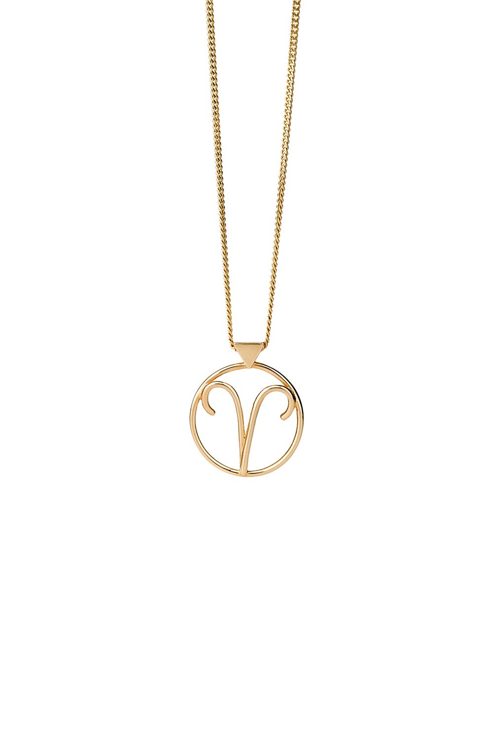 Aries Necklace Gold