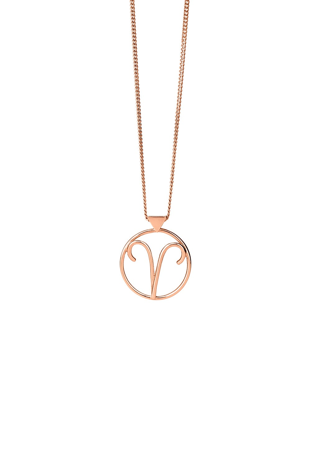 Aries Necklace Rose Gold