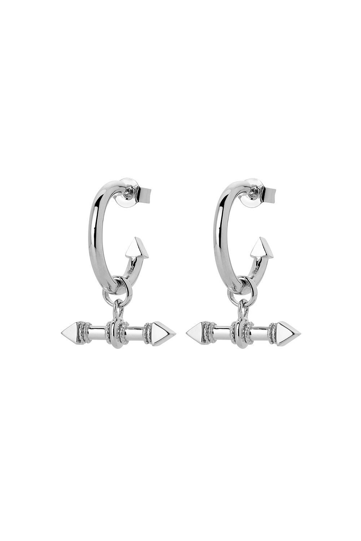 Arrow Fob Earrings Silver