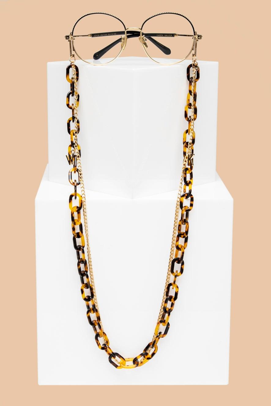 Arrow Combo Eyewear Chain Tort Gold