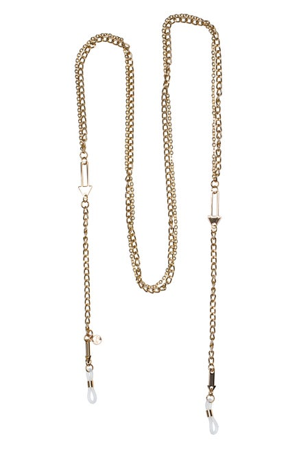 Arrow Double Eyewear Chain Gold