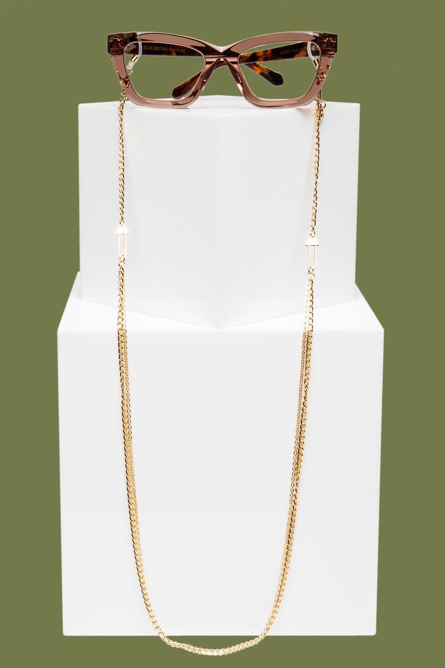 Arrow Double Eyewear Chain Gold