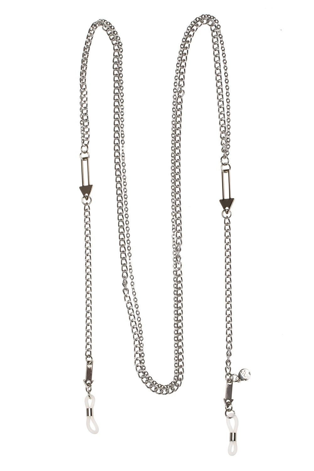 Arrow Double Eyewear Chain Silver