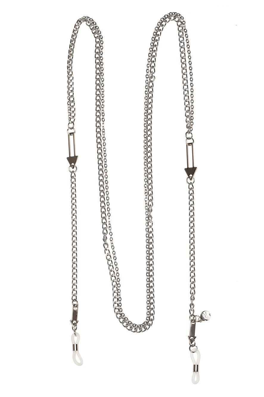 Arrow Double Eyewear Chain Silver