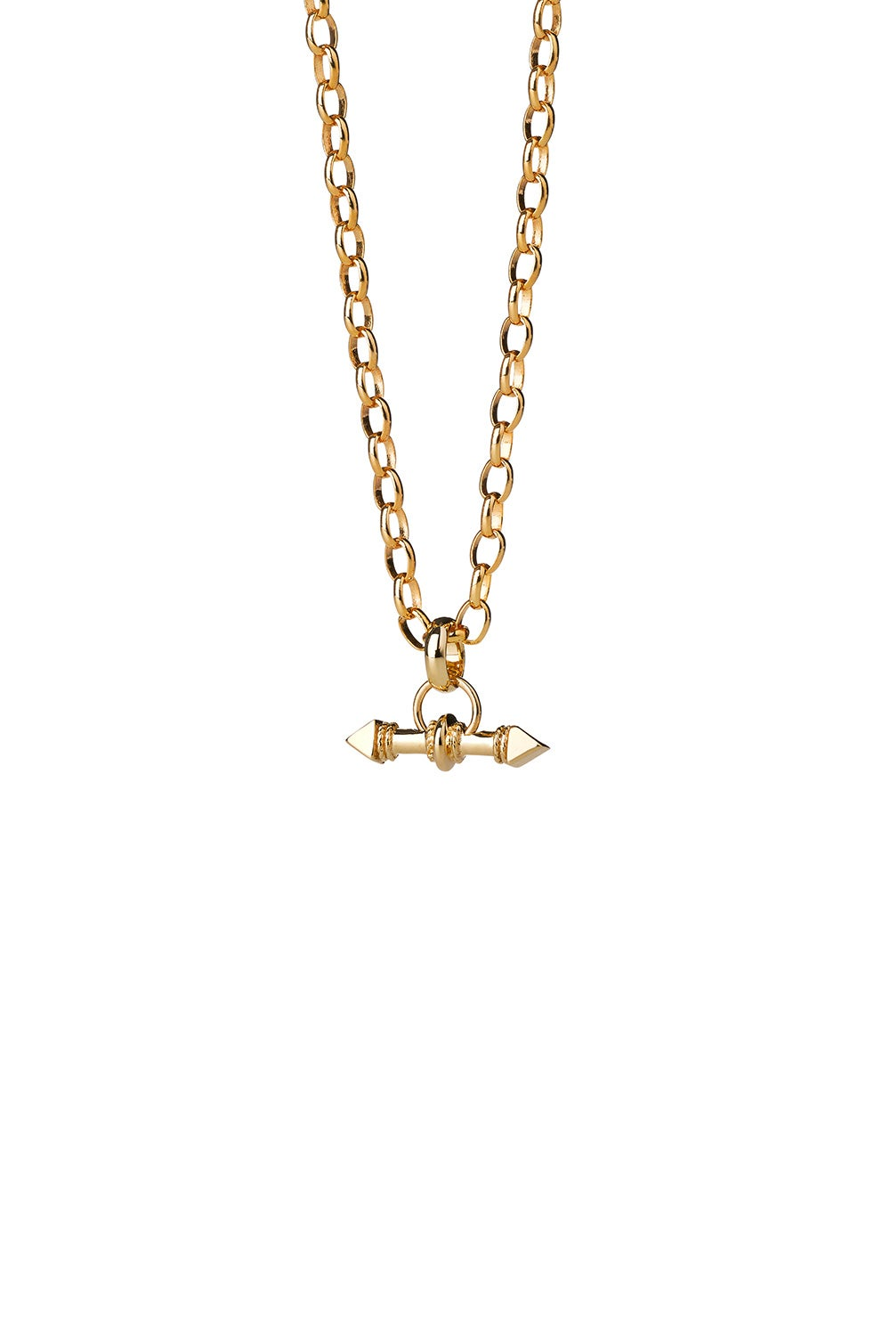 Arrow Fob Chain Gold
