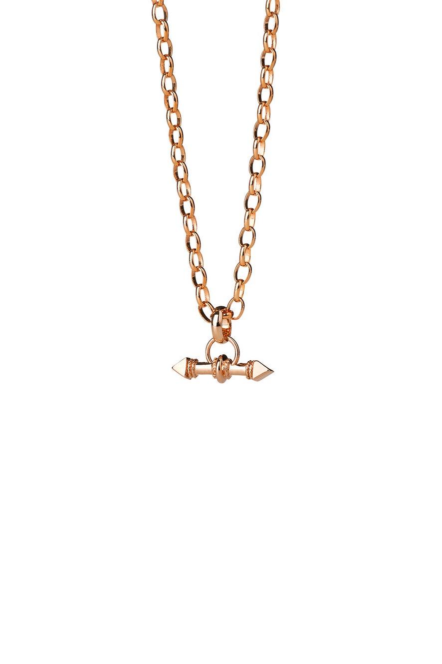 Arrow Fob Chain Rose Gold
