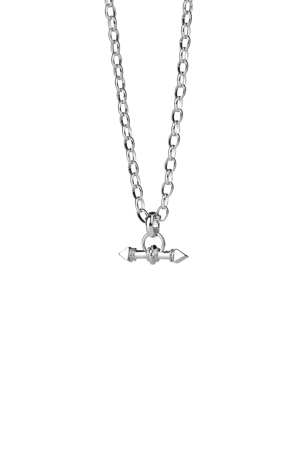 Arrow Fob Chain Silver