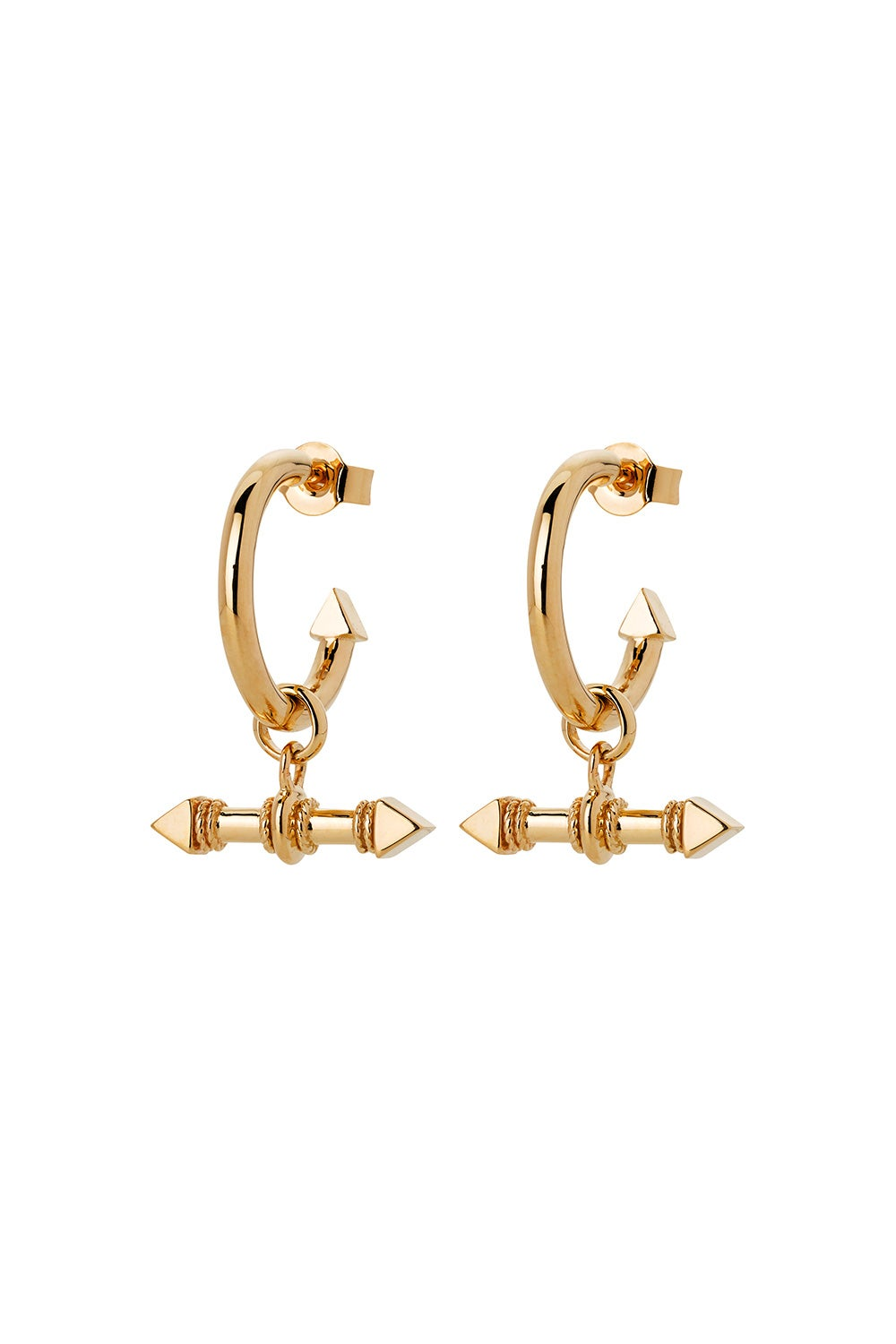 Arrow Fob Earrings Gold