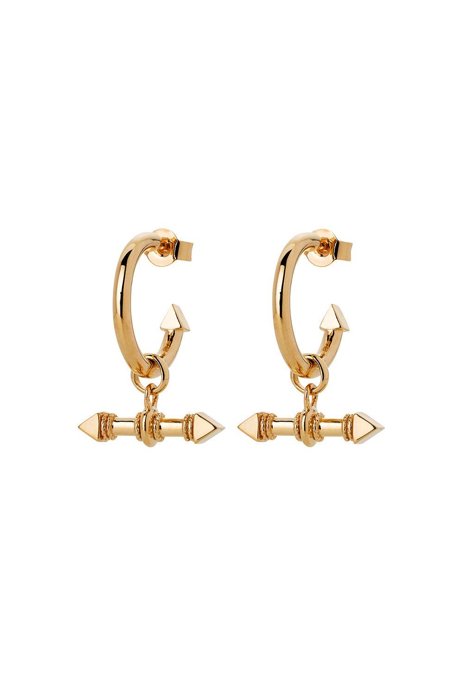 Arrow Fob Earrings Gold