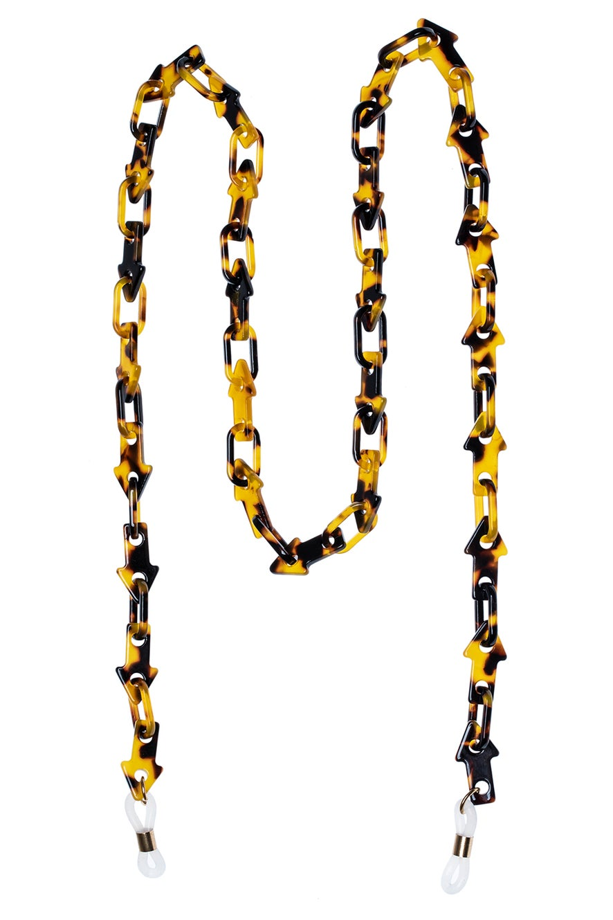 Arrow Link Eyewear Chain Crazy Tort