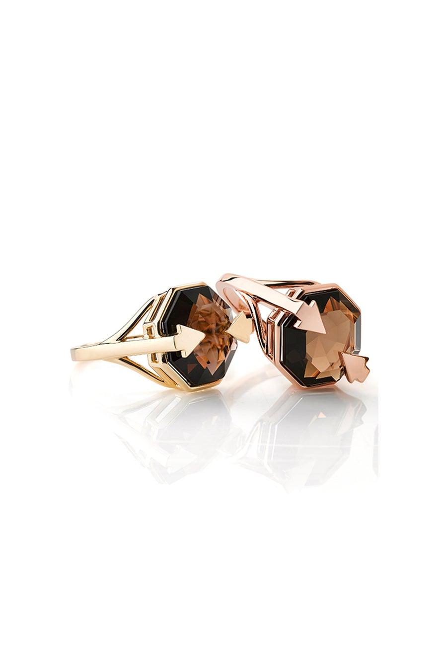 Astrid Ring Smoky Quartz Gold