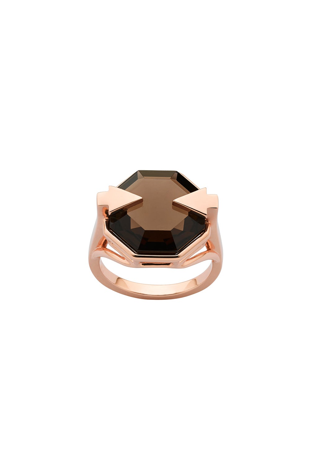 Astrid Ring Smoky Quartz Rose Gold
