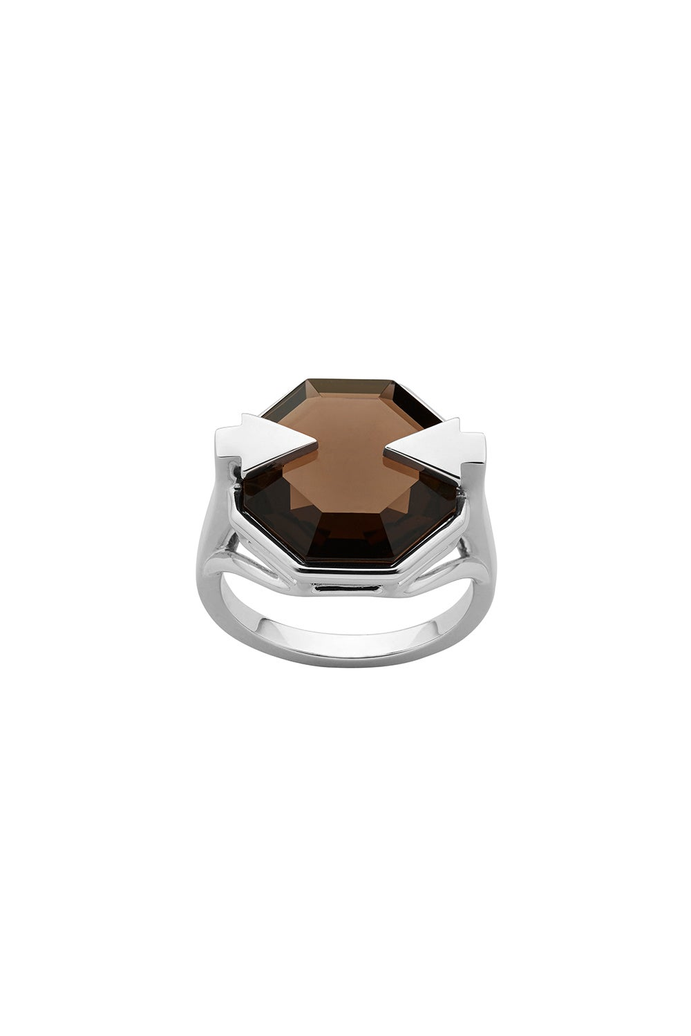 Astrid Ring Smoky Quartz Silver