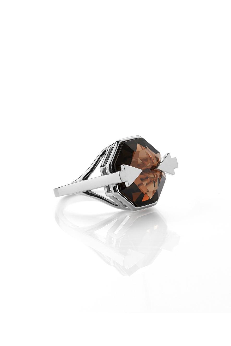 Astrid Ring Smoky Quartz Silver