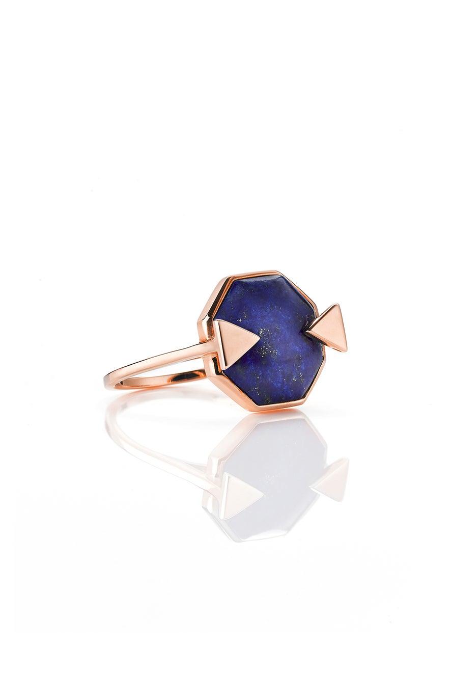Astro Ring Lapis Rose Gold