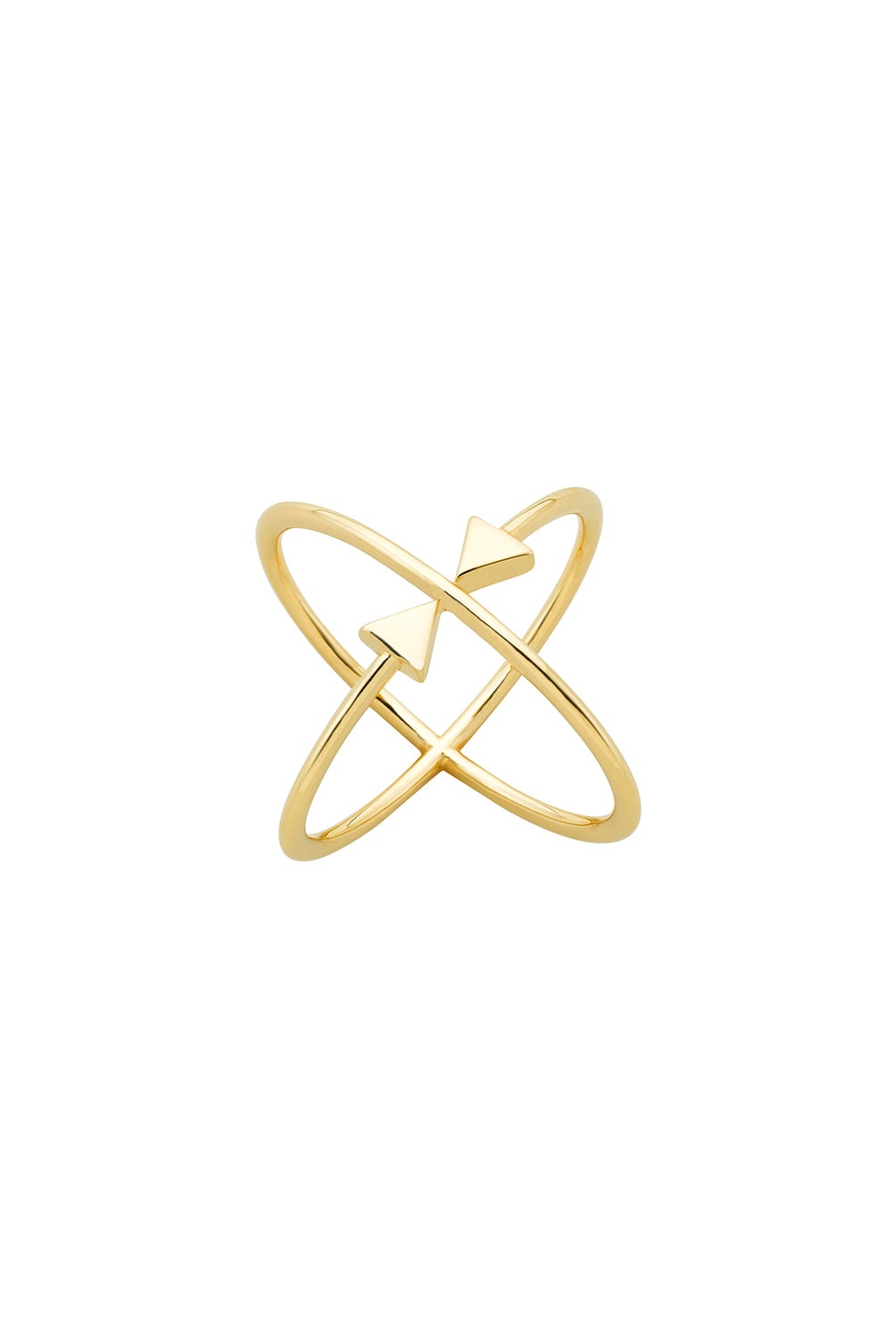 Atomic Arrows Ring Gold